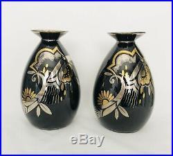 02 vases design moderniste Boch la Louvière style art déco Catteau Adnet er