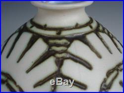 1920/1930 Mougin Geo Conde Vase Fougeres Gres Art Deco Nancy Luneville