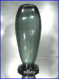 1930 A. Delatte Nancy Important Vase En Verre Céladon Art Déco
