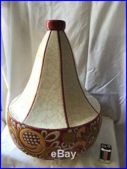1 grands vase Emaux de Longwy Modèle Art Déco années 30 Fleurs stylisées