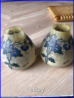 2 Petit Vase Art Deco Signé Très Beau No Galle Daum