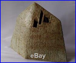 ANCIENNE SCULPTURE VASE EN GRÈS signature à identifier yves Mohy
