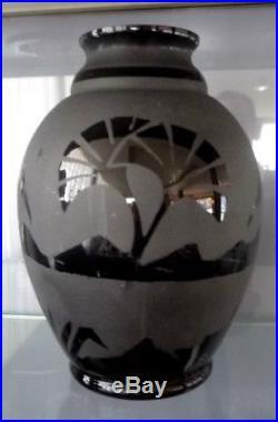 artver boom grand vase art deco d cor p lican papyrus st lambert catteau art deco vase. Black Bedroom Furniture Sets. Home Design Ideas