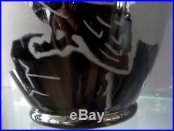 ARTVER BOOM Grand vase art deco décor pélican, papyrus-st lambert-catteau