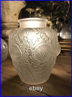 ART DECO R Lalique Vase DOMREMY Blanc Circa 1926 Modèle 979