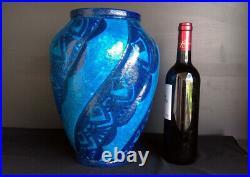 ART DÉCO vase en grès émaillé signé RAOUL LACHENAL PIÈCE UNIQUE (1885-1956)