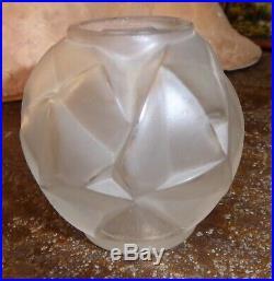 A HUNEBELLE et R COGNEVILLE vase miniature art déco