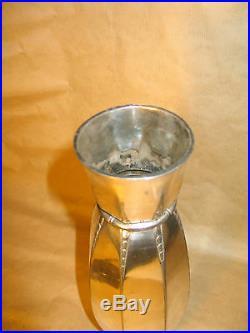 A Saisir! Sublime Vase Art Deco Metal Argente Gallia