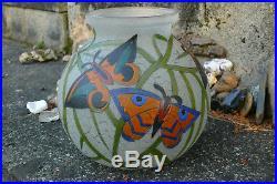 Adrien MAZOYER Magnifique Vase à décor émaillé produit en 1920 Art Déco