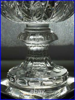 Ancien Grand Vase Medicis Guerriers Cristal Du Val Saint Lambert Art Deco Tbe