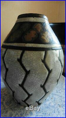 Ancien Vase Charles Catteau Gres Keramis Art Deco