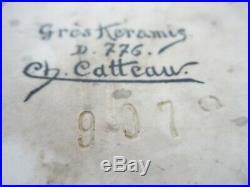 Ancien Vase Charles Catteau Gres Keramis/art Deco/forme 907/decor 776