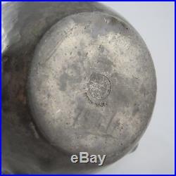 Ancien Vase Étain d'Art RENÉ DELAVAN 1930 Art Déco tin/20th/dinanderie/dunand