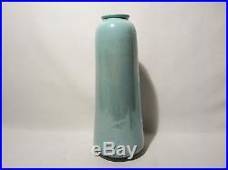 Ancien Vase Irise Signe Ruskin Date 1920 Iridescent Pottery England Art Deco