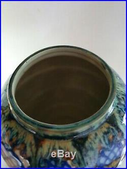 Ancien Vase Sèvres Art deco signe pot couvert à identifier