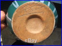 Ancien grand vase en Grès de Puisaye signé Léon Pointu art déco 1879 1942