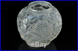 Ancien vase Art Déco André Hunebelle 1930 Old Vintage glass 30's vase