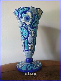 Ancien vase art deco Longwy, primaveratbe