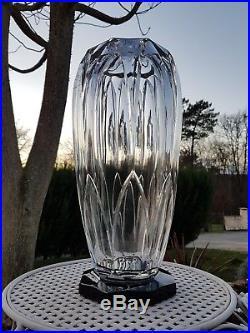 Ancien vase art déco taillé au burin signé Auguste houillon ecole de Nancy daum