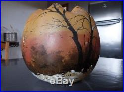 Ancien vase legras décor peint émaillé