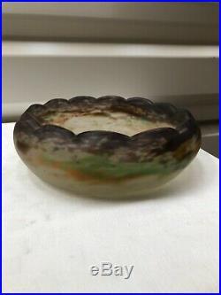 ++++ Ancienne Coupe Vase Art Deco Pate De Verre Muller Freres Luneville ++++