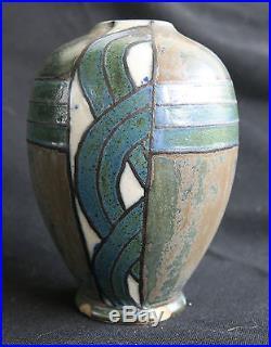 Ancienne céramique petit vase Quimper Odetta ancient ceramics art-déco