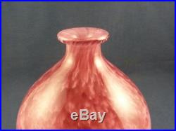 André Delatte, vase ovoïde rose Art Déco