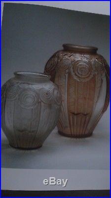 Andre Hunebelle Vase'ROSE' grande taille 1925