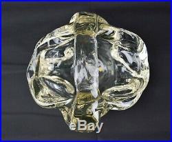 André THURET Vase Grande Coupe Verre Épais Modelé Signée Art Déco daum Lalique