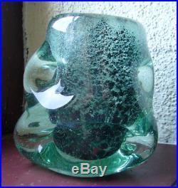 Andre Thuret Rare 3 vases Art Deco verre 1950