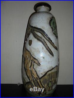 Art-Déco 1950 Grès de Losson Exceptionnel Vase au Chamois dlg Craco Bouffioulx