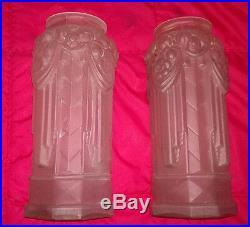 Art Deco Paire De Vase Moulé Pressé Circa 1930