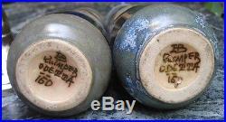 -Art Deco QUIMPER Couple de Bretons Paire de Vases en Grès ou Céramique ODETTA