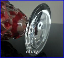 Art Deco Vase Medici Cristal Double Couleur Rouge Baccarat Val St Lambert