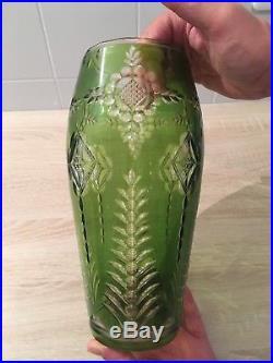 Art déco, vase en cristal de Val St Lambert, création de Joseph Simon 1925