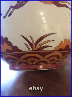 Art deco vases Céramique Craquelé DLG(catteau Chevalier) La Louvière