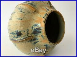 Auguste Delaherche 1857 1940 Vase Numerote 3526 En Gres Emaille Art Deco C2515