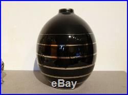 BOCH Beau vase en gres belge Art Deco Charles Catteau Keramis 996 La Louviere