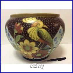 BOCH KERAMIS Vase art déco Belgique cachet et numéroté CIRCA 1930 BELGIË