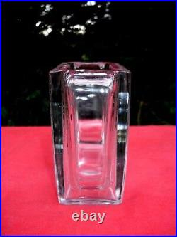Baccarat Bird Butterfly Crystal Vase Cristal Grave Oiseau Papillon Art Deco Aa