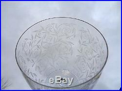Baccarat Golf Juan Crystal Vase Cristal Gravé Gravure Art Deco Kristall 1930