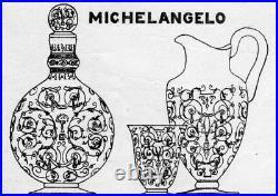 Baccarat Michelangelo Michel Ange Vase Crystal Cristal Grave Art Deco 1930 B