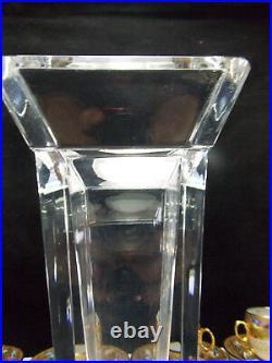 Bayel-cristallerie Royale De Champagne- Superbe Vase Cristal Forme Art Deco