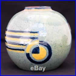 Beau Vase Art Deco En Ceramique De Savoie Francis Jourdain