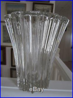 Beau Vase Art Deco En Cristal De Pierre D Avesn Vers 1930 En Parfait Etat Neuf