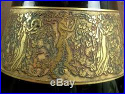 Beau Vase Moser Karlsbad Frise A L'antique De Femmes Art Deco