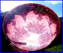Beau lustre art-deco Schneider le verre français Dahlia, era daum galle vase