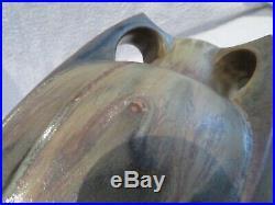 Beau vase art deco grès Denbac Vierzon 373 (french pottery vase) h 32cm v69