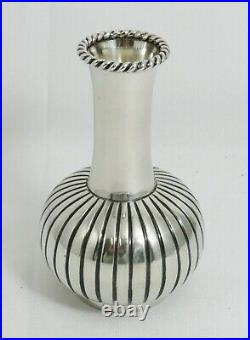 Beau vase en argent massif, Art Déco, soliflore, excellent état