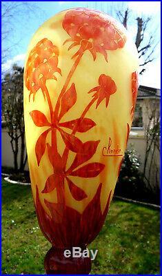 Beau vase schneider Le verre français, pivoines, parfait, era daum galle 1920
